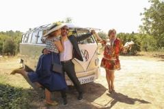 Los invitados de Photocall en una boda en Masía Niñerola