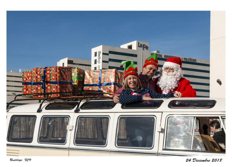 Llega Papa Noel a la Casa McDonals en Valencia